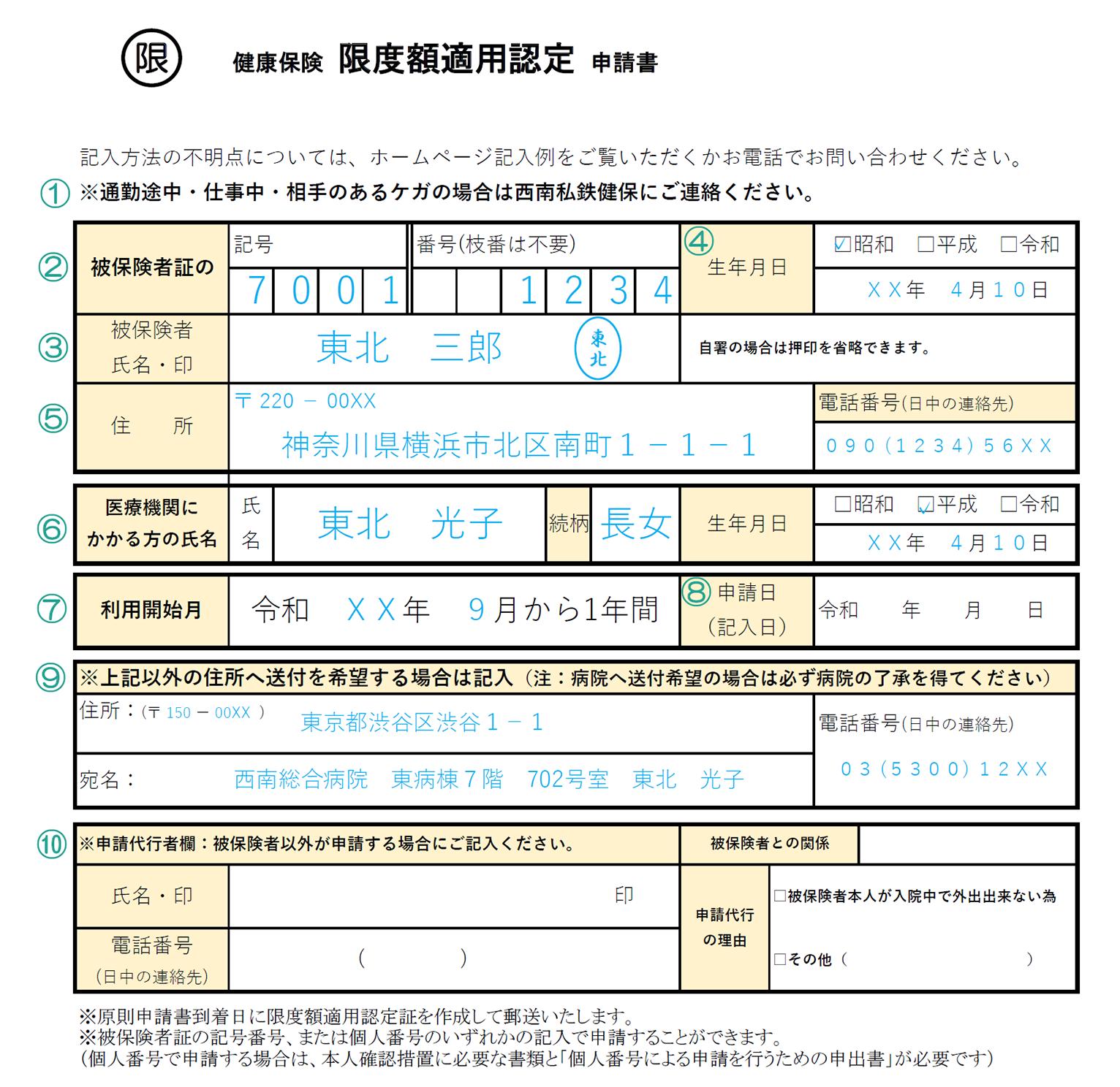 限度 認定 保険 申請 書 適用 健康 額